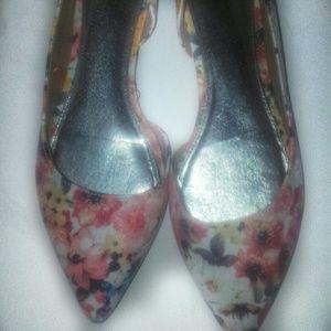 NEW! BRASH  Floral Flats. 156846/33 Size 12